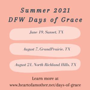 summer 2021 DFW Days of Grace